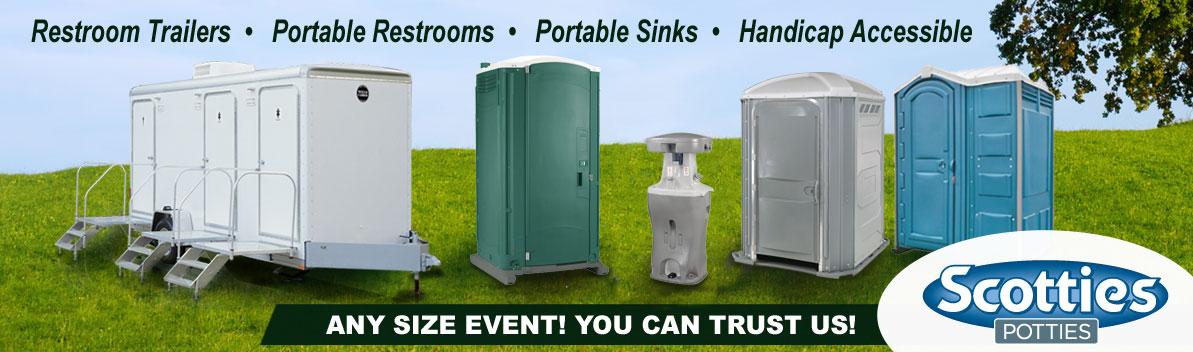 Luxury Restroom Trailers Portable Restrooms Rental Scotties Potties - Luxury portable bathrooms